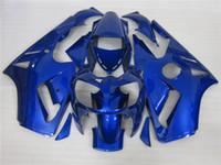 zx12r blau großhandel-freies Verschiffen + 10 Geschenke beleuchtet reines Blau für Kawasaki Ninja ZX12R 2000-2001 fairin