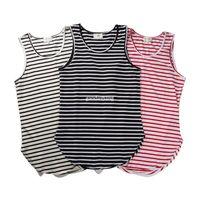 ingrosso maglia nera xl-Paura di God Vest Justin Bieber Summer Style Stripe Arc FOG Canotte Streetwear Grigio / Nero / Bianco Swallowtail Fear of God Vest