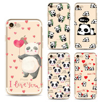 Wholesale Panda Bear Patterns - For iPhone 7 Plus Painted Case Soft TPU Unicorn Naked Bear Panda Mermaid Pattern Back Cover For iPhone 6S 6 Plus Opp Bag