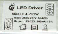ip66 led sürücüsü toptan satış-4W, 5W, 6W, 7W, 300mA açık ve kapalı su geçirmez güç LED sürücü gücü, IP66