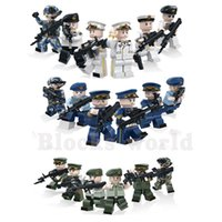 Unisex block land - 18pcs set Military Navy Air Land Force Soldiers Army Building Blocks Bricks Model Sets Toys Children Gift