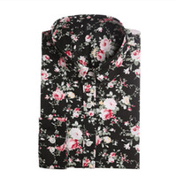 black orange blouse - New Women Floral Shirts Cotton Long Sleeve Shirt Women Floral Print Shirt Casual Ladies Blouse Turn Down Collar Women Tops