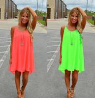 Wholesale Plus Size Beach Lace Sundresses - Women Beach Dress Summer Dress Chiffon Women Dress 2017 new Summer style Vestido De Festa Sundress Plus Size Women Clothing.