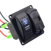 Wholesale Car Auto Boat marine switch panel Board USB boat switch voltmeter Breakers Overload Protected Car Switch Panel