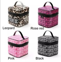 Wholesale Cosmetic Cases Wholesale - VS Pink Cosmetic makeup Storage PINK Tote Bags akeup Bag Travel Cosmetic Bag Box Makeup Case Pouch Toiletry Organizer KKA2820