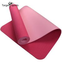 Wholesale Mat 8mm - Wholesale-New Yoga Mat 8mm High Quality Eco-friendly Non-Slip Durable TPE Yoga Mats For GYM Fitness Body Building 183cm*61cm