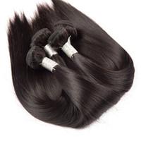 tração de cabelo liso vietnamita venda por atacado-Grau 8A-Indiano Vietnamita Cabelo Liso 3 Bundle 100% Feixes de Cabelo Humano Cor Natural de Seda Remy Do Cabelo, 90g por pacote, DHL livre