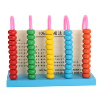 Wholesale Calculator Abacus - Wooden 5-Column Addition and Subtraction Calculation Wood Abacus Early Educational Tool Kindergarten Primary School Students Calculator Toy