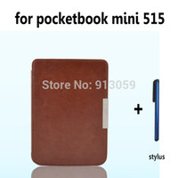 Wholesale Pocketbook Mini - Wholesale-Ultra Slim Magnetic Folio Leather Case Cover Pouch For PocketBook mini 515 ebook case+stylus pen as gift