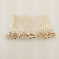 Wholesale Nickel Hair Clips - The party must ,sea wave style hair jewelry comb.Hand-made and High quality,Lead and nickel safe-SC0019