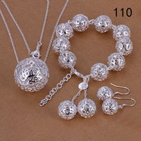 Wholesale 925 Sterling Silver Bracelets Prices - same price mixed style women's sterling silver jewelry sets,fashion 925 silver Necklace Bracelet Earring jewelry set GTS50