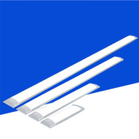 Wholesale Led Lights Fixtures Wholesale - Surface Mounted LED Batten Double row Tubes Lights 2FT 4FT T8 Fixture Purificati LED tri-proof Light Tube 20W 40W AC 110-240V