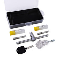 Wholesale force locksmith tools - New Arrival 3pcs set Strong Force Power Key HU66 Auto Picks Locksmith Tools Transparent Practice Lock with 1pcs Lock Twisting Tool