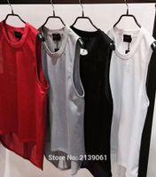 Wholesale Sequin Vests Black - 2017 new best version 90s Hip hop After short before long Dovetail Vest fifth season Justin bieber Fear of God FOG label men women Vest