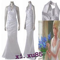 Wholesale anime cosplay gowns - Origial Final Fantasy XV Lunafreya Nox Fleuret Cosplay Dress Costume Customized Beautifu Party Dress Ball Gown Custom Made