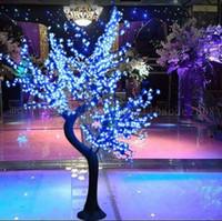 lumières led de fleurs de cerisier achat en gros de-2017 LED Cherry Blossom Tree Light 864pcs Ampoules LED 1.8m Hauteur 110 / 220VAC Sept Couleurs pour Option Imperméable à l'Extérieur Usage Drop Shipping MYY