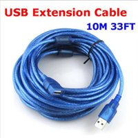 Wholesale Extension Repeater Cable - High quality USB Extension Cable 10M 33ft USB Repeater Extender Wire Printer Cable Male to Female