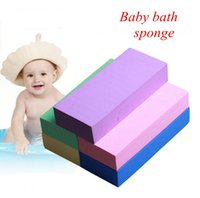banyo promosyonları toptan satış-Bebek banyo Süngeri bebek Banyo Süngeri çocuklar yürüyor yumuşak yıkama süngerleri birçok renk dolu renkli kutu adam kadın bez promosyon hediyeler