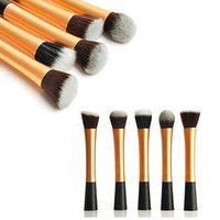 Wholesale Wholesale Real Technique Brushes - Wholesale- High Quality 2016 New 5pcs Professional Beginner Makeup Brush Cosmetic Brushes Real Makeup Powder Brushes Techniques Set Kit