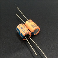 Wholesale Audio Electrolytic Capacitors - Wholesale- 100pcs 10uF 50V Japan ELNA 10x12.5mm 50V10uF Audio capacitor