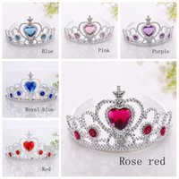 Wholesale United Plastic - Ice and snow princess crown princess headdress jewelry headband plastic hair hoop Europe and the United States selling style