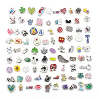 Wholesale Silver Diy Charms For Necklaces - DIY Alloy Charms for Floating Lockets For Glass Memory Living Floating Locket Pendant Xmas Gift Pendants For Locket Charms Bracelet Necklace