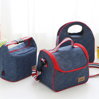 Wholesale Pack Lunch Bag Black - WERAIMJX Denim Lunch Bag Kid Bento Box Insulated Pack Picnic Drink Food Thermal Ice Cooler Leisure Office Worker Lunch Bag SJ051