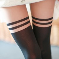 Grossiste-populaire filles Nice School Mock au-dessus du genou Sheer Collants Collants Hot Item chaud