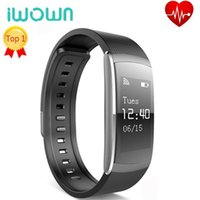 Wholesale Water Proof Wrist Watch - Original IWOWN Smart Wristband I6 Pro Heart Rate Monitor Water Proof Smart Bracelet Message Reminder Smart Watch Call Reminder