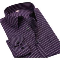 kaliteli giyim çini toptan satış-Toptan-Artı boyutu 6XL Çizgili Erkek Gömlek Ucuz Uzun Kollu Casual Gömlek 5XL Büyük Boy Lüks Yüksek Kalite Çin Ithal Erkek Giyim