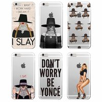 Wholesale Sexy Iphone 4s Cases - Fashion Sexy Girl Beyoncé Soft Words Transparent TPU iPhone Case Coque for iPhone 4 4S 5 5S SE 6 6S Samsung