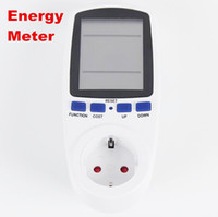 Wholesale Energy Monitoring - new arrive EU Plug Electricity Power Energy Watt Voltage Amps Current Meter Analyzer with Usage Monitor