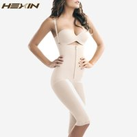 Wholesale Acrylic Trimmer - Wholesale- HEXIN Hot Shapers for Women Full Body Shaper Strappy High Waist Shaper Corset Zipper Waist Trainer with Tummy Trimmer Shaperwear
