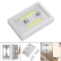 Wholesale Wireless Light Switches - Hot Selling motion sensor COB LED Switch Lighting Wireless Cordless Under Cabinet Closet Kitchen RV Night Light Fast Shipping