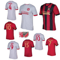 Wholesale Atlanta Homes - Thai quality 2017 Atlanta United red home soccer jersey 17 18 GARZA JONES VILLALBA MCCANN MARTINEZ ALMIRON away white football shirts