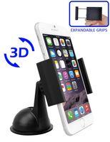 Wholesale Car Dvr Windshield - Wholesale- car Adjustable Windshield Dashboard Car Mount Holder with expandable grips for GPS DVR Cellphones-Black