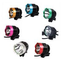 Wholesale bike lit online – design waterproof IP65 led bike lights Bicycle Headlight with CREE XML T6 LED W LM led bicycle bike headlight