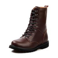 media bota de seguridad al por mayor-Botas de trabajo de la seguridad de los zapatos de los hombres Botas de la nieve más grandes del tamaño 48 Botas ocasionales de Martin Botas de la manera de la moda BN