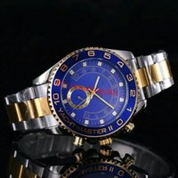 Wholesale Men S Watch Brands - AAA QUALITY luxury New Fashion Men Big Watch brand Golden Stainless steel High Quality Male quartz watches Man Wristwatch Silver Gold Free s