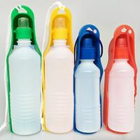 складные пластиковые бутылки с водой оптовых-Pet диспенсер для воды портативный путешествия тип пластиковые двойной камерные гидратации высокое качество бутылки с складной чашки горячие продать 3 4ss J R