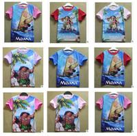 Wholesale Teen Wholesale Shirts - Children Clothing T-shirts For Kids Moana Girl Baby Boys Short Sleeves Kids Summer Clothes Teen Girls Clothing Cartoon T-shirt Monna