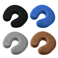 Wholesale Head Rest Cushions - Wholesale- 1PC Memory U Shaped Travel Air Pillow Neck Support Head Rest Cushion Gift