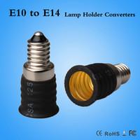 Wholesale Cfl Fire - Hot sale CE & RoHS E10 to E14 adapter holder Led CFL light bulb Fire-proof PBT E14-E10 converter
