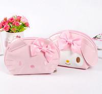 Wholesale Melody Case - Wholesale- Super Kawaii Bright PU Hello Kitty , Melody Rabbit Women's Hand Coin Bag Handbag , 14*12CM Coin Wallet Purse Pouch Case