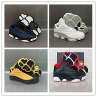 Wholesale Brave Blue - 2017 Retro 13 Low Basketball Shoes Pure Money Brave Blue Chutney Basketball Boot Top Qaulity Retro XIII Black Red Sport Sneakers