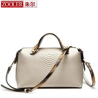 Wholesale Zooler Bags - Free Shipping ZOOLER Genuine Leather Handbag bags handbags women famous brands Boston crossbody bag Many colors#1595