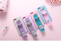 Wholesale Pink Popcorn - Korea Popular Second Unique Name Second Generati Popcorn Cake Car Canvas Arm Belt Tassels Case Cover For Iphone6S 7 6Plus 7Plus