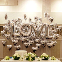 Wholesale Large Letter Foil Balloons - 16  40 inch gold silver LOVE aluminum foil balloons large helium balloon party letters wedding decoration air balls party supplies