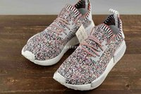 Wholesale Hard Plastic Boxes - NMD R1 PK Color Static Running Shoes Mens Womens NMD R1 high quality Size 36-45 Come With Box