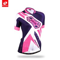 Wholesale Cool Biking Wear - NUCKILY Summer Women's Cool Max Cycling Jersey Outdoor Sport biking wear for cyclist GA013
